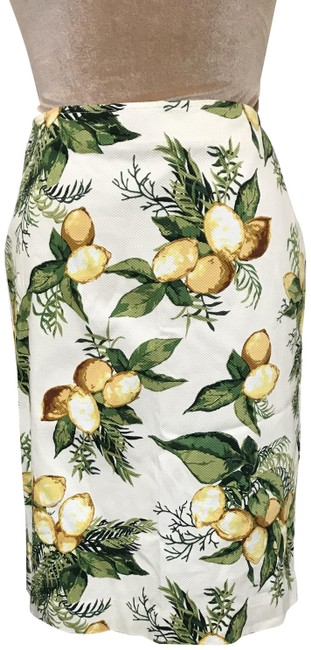 Item - White / Yellow Lemon Print Skirt Size 6 (S, 28)