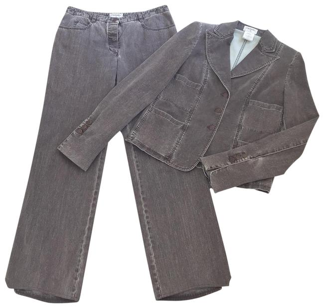Item - Brown Wash Jean & Jacket Pant Suit Size 8 (M)