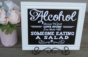 Set Of Two Chalkboard Look Rustic Wedding Signs