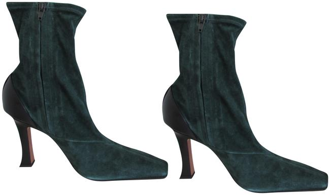 Item - Bottle Green Suede Madame Flare Stretch Boots/Booties Size EU 39.5 (Approx. US 9.5) Regular (M, B)