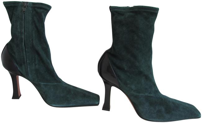 Item - Bottle Green Suede Madame Flare Stretch Boots/Booties Size EU 40 (Approx. US 10) Regular (M, B)
