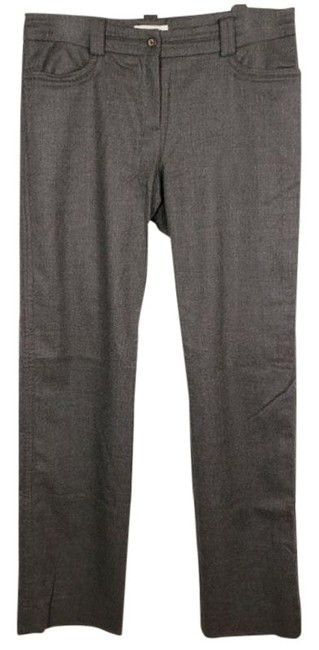 Item - Gray Wool Cashmere Ankle Slit Pants Size 4 (S, 27)