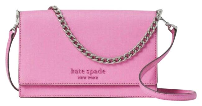 Item - Cameron Convertible Chain Bright Pink Leather Cross Body Bag
