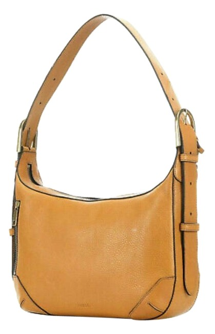 Item - Hannah Shoulder Amber Gold Yellow Leather Hobo Bag