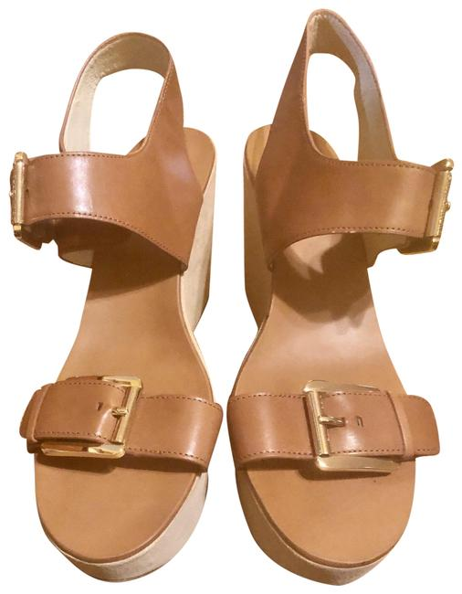 Item - Brown Leather Wedge 11m Sandals Size US 11 Regular (M, B)