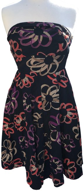 Item - Black Girls From Savoy Floral Short Cocktail Dress Size 2 (XS)