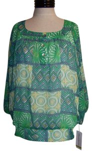 Alfred Dunner Nwt Top Green