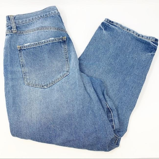 Free People Blue Distressed Extreme Washed Button Fly Boyfriend Cut Jeans Size 30 (6, M) Free People Blue Distressed Extreme Washed Button Fly Boyfriend Cut Jeans Size 30 (6, M) Image 4