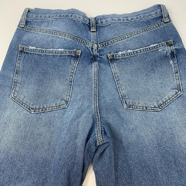 Free People Blue Distressed Extreme Washed Button Fly Boyfriend Cut Jeans Size 30 (6, M) Free People Blue Distressed Extreme Washed Button Fly Boyfriend Cut Jeans Size 30 (6, M) Image 8