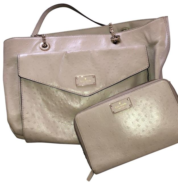Item - With Extra Large Wallet Tan Leather Tote