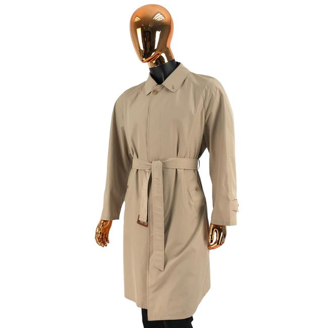 Item - Beige W Mens Polyester Belted Nova Check Coat Size 10 (M)