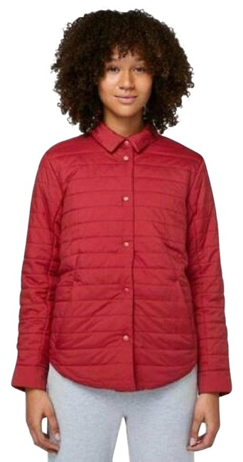 Item - Red Switch Please Reversible Down Puffy Coat Activewear Outerwear Size 6 (S)
