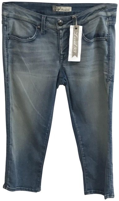 Item - Blue Distressed Vintage Wash Capri/Cropped Jeans Size 27 (4, S)