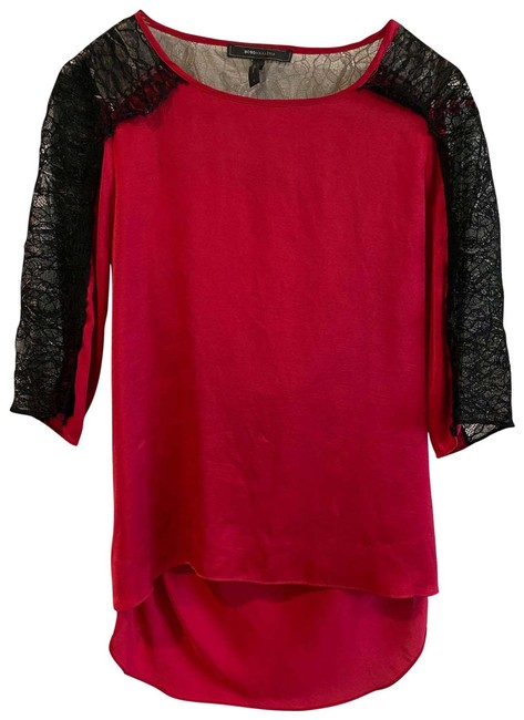 Item - Ruby Red and Black Blouse Size 4 (S)