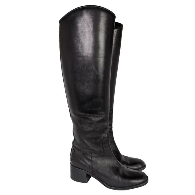 Item - Black Leather Cc Knee High Riding Boots/Booties Size EU 38.5 (Approx. US 8.5) Regular (M, B)
