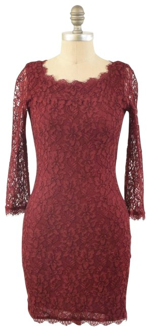 Item - Red Lace Short Cocktail Dress Size 2 (XS)