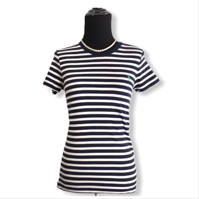 Item - Navy Striped Tee Shirt Size 8 (M)