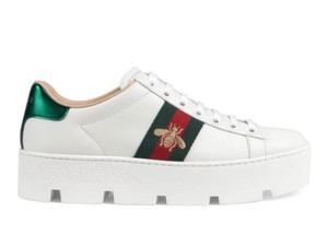 Gucci White Leather Athletic