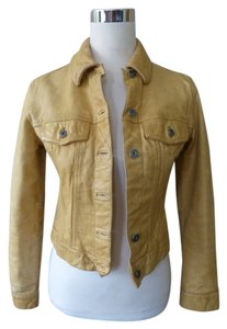 Gap Western Vintage yellow Leather Jacket