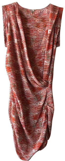 Item - Red and Multi Colored None Short Casual Dress Size 4 (S)