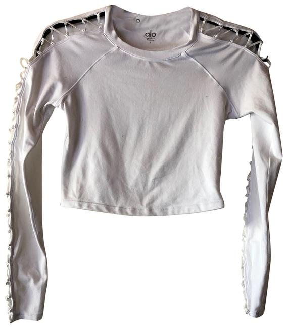 Item - White Activewear Top Size 4 (S)