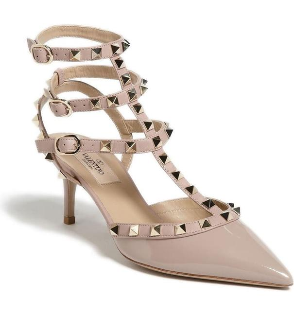 Item - P45/Nude Rockstud Strappy Pointed Toe Pump Formal Shoes Size EU 38.5 (Approx. US 8.5) Regular (M, B)