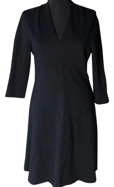 Item - Black Dr Derry Ponte Fit And Work/Office Dress Size 6 (S)