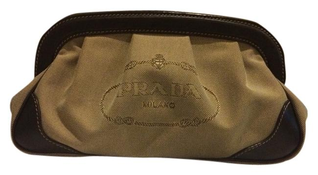 Item - Brown Olive Canvas Clutch
