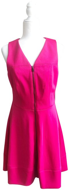 Item - Pink Scuba Fit and Flare Short Work/Office Dress Size 10 (M)