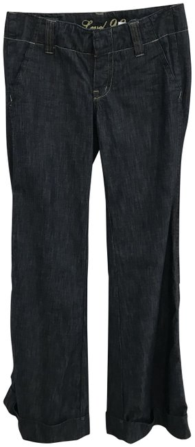 Item - Blue Dark Rinse Trouser/Wide Leg Jeans Size 26 (2, XS)