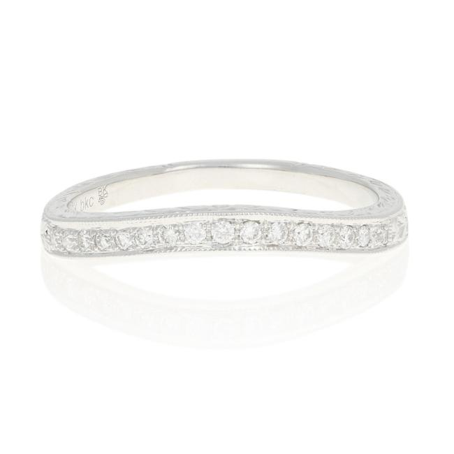 Item - White Gold Diamond Curved Wedding Band 18k Round Brilliant .12ctw Ring