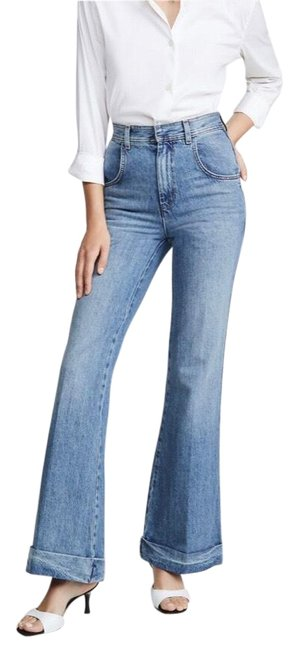 Item - Blue 70s Ultra High Rise Flare Leg Jeans Size 6 (S, 28)