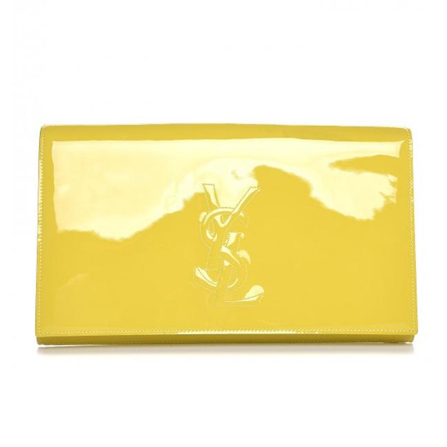 Item - Belle de Jour Ysl 361120 Yellow Patent Leather Clutch