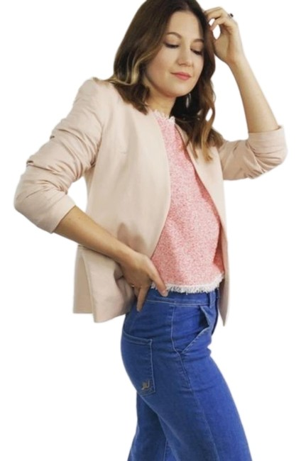 Item - Pink Pale Open Front Blazer Size 6 (S)
