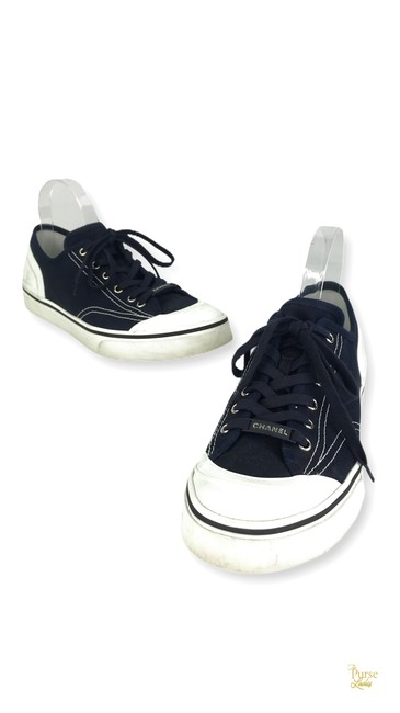 Item - Blue Mens Navy Canvas Sneakers 43 29626 Shoes