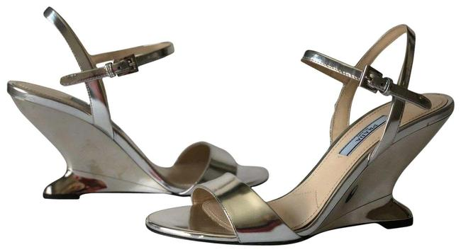 Item - Silver Metallic Calzature Donna Ankle Strap Sandals Size EU 37 (Approx. US 7) Regular (M, B)