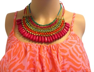 Orion London Bright Multi Colored Summer Necklace!