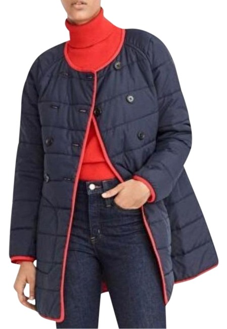 Item - Blue Red Reversible Puffer Jacket Size 0 (XS)