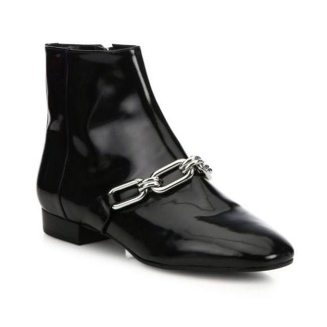 Item - Black Silver Lennox Patent Leather Ankle Boots/Booties Size EU 36 (Approx. US 6) Regular (M, B)