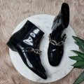 Michael Kors Collection Black Silver Lennox Patent Leather Ankle Boots/Booties Size EU 36 (Approx. US 6) Regular (M, B) Michael Kors Collection Black Silver Lennox Patent Leather Ankle Boots/Booties Size EU 36 (Approx. US 6) Regular (M, B) Image 2