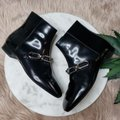 Michael Kors Collection Black Silver Lennox Patent Leather Ankle Boots/Booties Size EU 36 (Approx. US 6) Regular (M, B) Michael Kors Collection Black Silver Lennox Patent Leather Ankle Boots/Booties Size EU 36 (Approx. US 6) Regular (M, B) Image 3