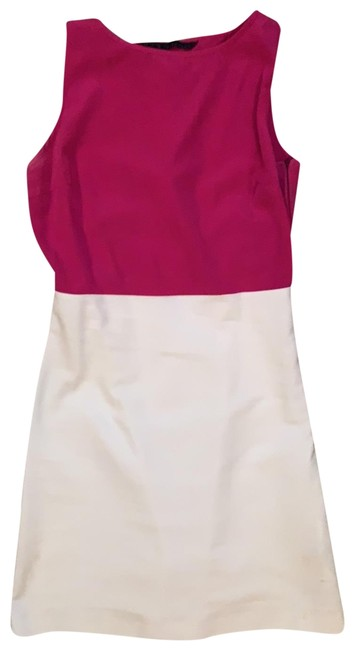 Zara Pink White Colorblock Short Cocktail Dress Size 2 (XS) Zara Pink White Colorblock Short Cocktail Dress Size 2 (XS) Image 1