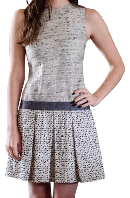 Proenza Schouler Gray Tweed Drop Waist Pleated Short Formal Dress Size 2 (XS) Proenza Schouler Gray Tweed Drop Waist Pleated Short Formal Dress Size 2 (XS) Image 1