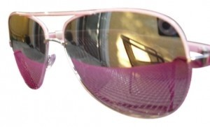 All Around Fem Bubblegum Pink Aviator Mirror Lense Sunglasses FAS