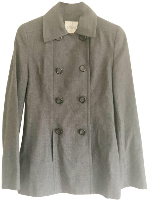 Scanlan Theodore Grey Wool Coat Size 6 (S) Scanlan Theodore Grey Wool Coat Size 6 (S) Image 1