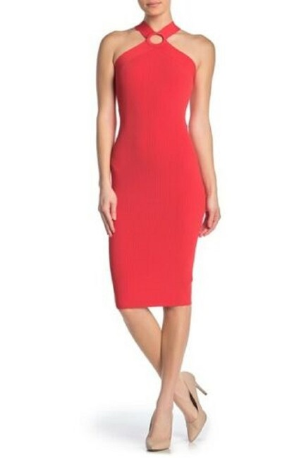 Item - Red Sionna Ribbed Body Short Night Out Dress Size 8 (M)