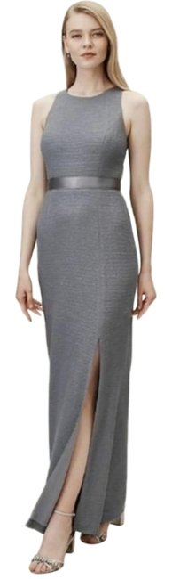 Adrianna Papell Gray Idris Gown Long Formal Dress Size 6 (S) Adrianna Papell Gray Idris Gown Long Formal Dress Size 6 (S) Image 1
