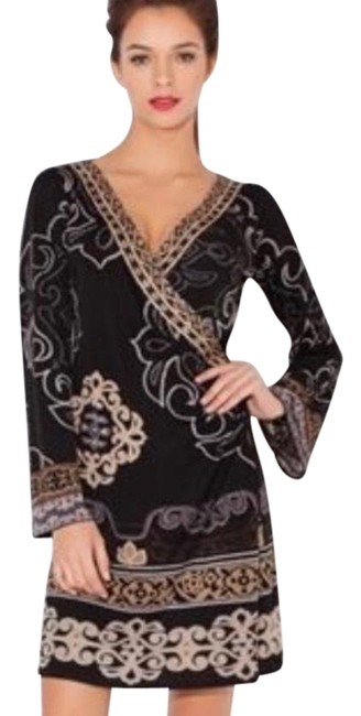 Item - Brown Jersey Route Wrap Short Night Out Dress Size 4 (S)