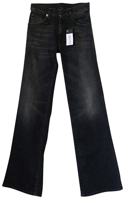 Item - Dirty Black Dark Rinse The In Flare Leg Jeans Size 26 (2, XS)