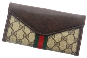 Gucci GUCCI BROWN (With coin purse) Purse GG PVC